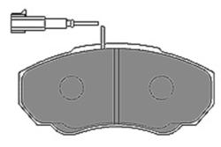 MAPCO 6568 Kit de Pastillas de freno (4 pastillas)