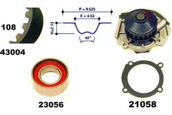MAPCO 41004 Bomba de agua + kit correa distribución