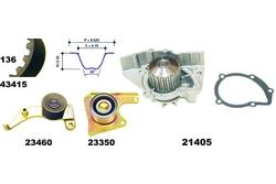 MAPCO 41415 Bomba de agua + kit correa distribución
