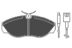 MAPCO 6433 Kit de Pastillas de freno (4 pastillas)